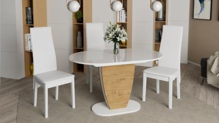 Стол Монреаль Тип 1 (Белый глянец/бунратти)
