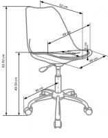COCO-4, кресло компьютерное, HALMAR, ткань - бежевый
